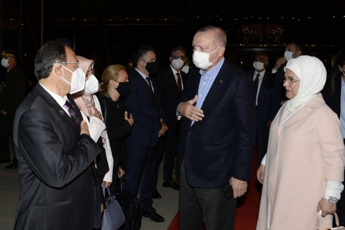 Turkish President Recep Tayyip Erdogan completes official visit to Azerbaijan