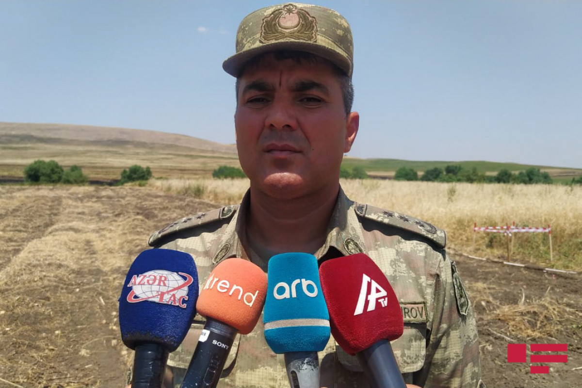 Colonel: We are carrying out the task of demining in liberated territories together with the sappers from brother Turkey