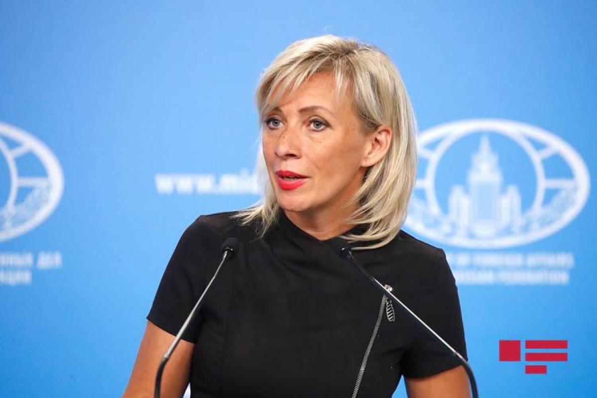 Захарова: Россия продолжает прилагать усилия для деэскалации ситуации на границе Азербайджана с Арменией