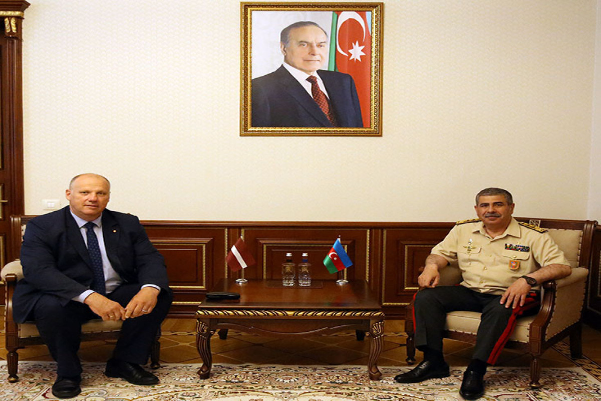 Minister of Defense of Azerbaijan meets with member of the Latvian delegation to the NATO PA