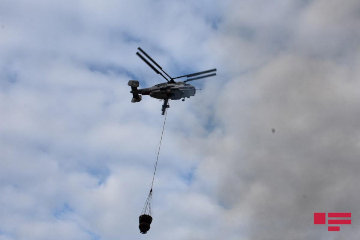 К тушению пожара вблизи Набрана привлечен вертолет МЧС