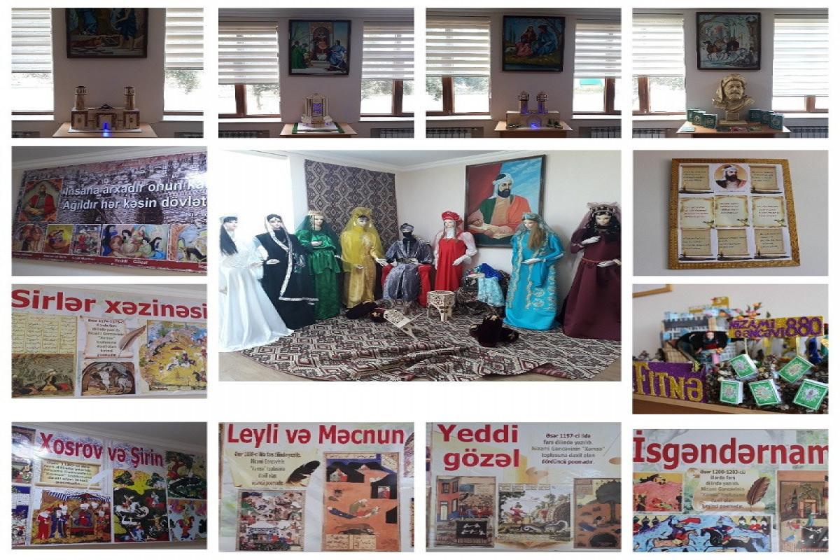 """В бакинской школе состоялось открытие музея Низами-<span class=""""red_color"""">ФОТО</span>"""