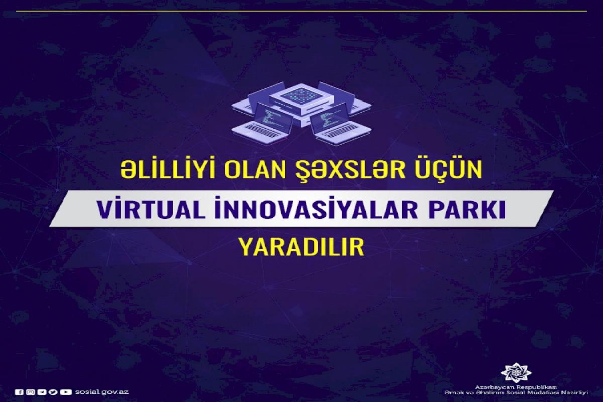 Əlilliyi olan şəxslər üçün Virtual İnnovasiyalar Parkı yaradılır