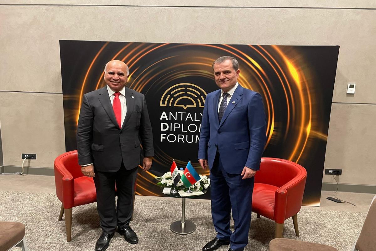Jeyhun Bayramov met with Iraqi Foreign Minister