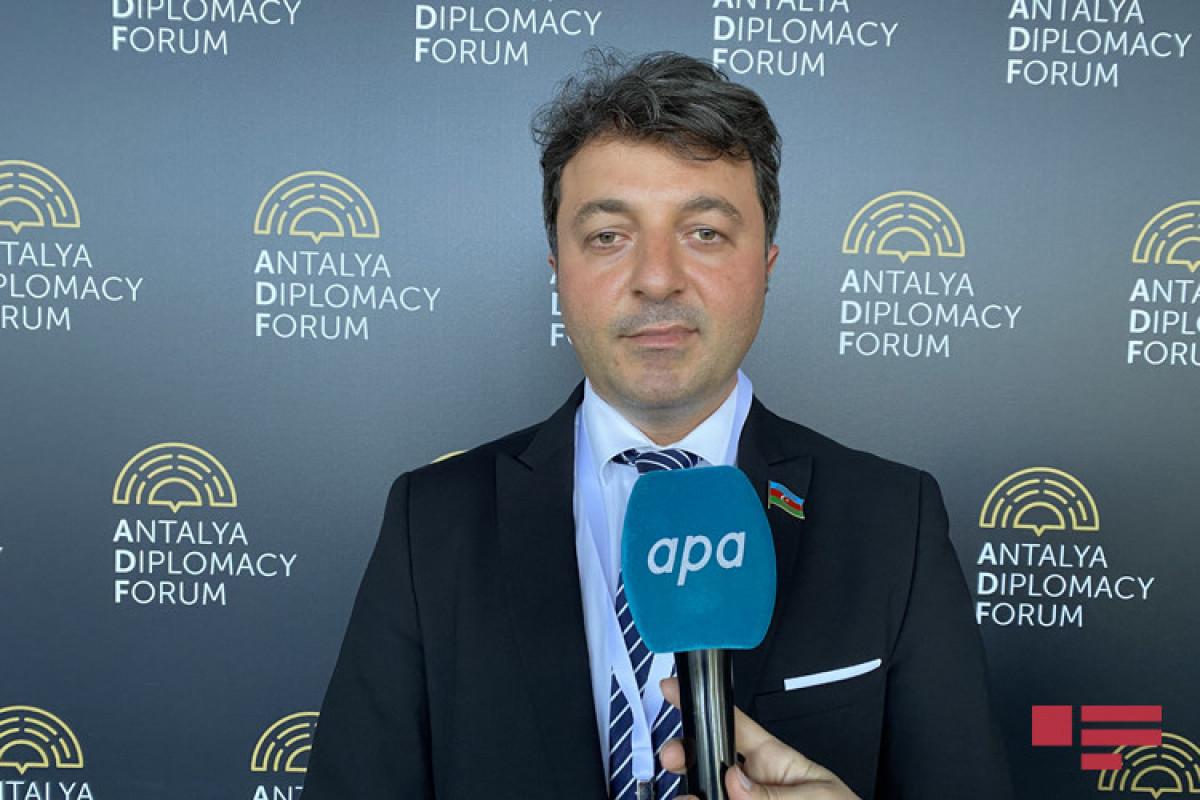 """Tural Gəncəliyev: """"Antalya Diplomatiya Forumunda Azərbaycanla bağlı çox əhəmiyyətli tədbirlər keçirildi"""""""