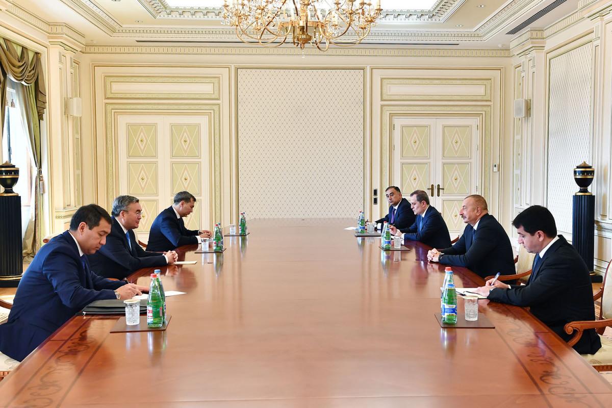 """Prezident İlham Əliyev Qazaxıstanın Baş nazirinin müavinini qəbul edib - <span class=""""red_color"""">YENİLƏNİB</span> - <span class=""""red_color"""">VİDEO</span>"""