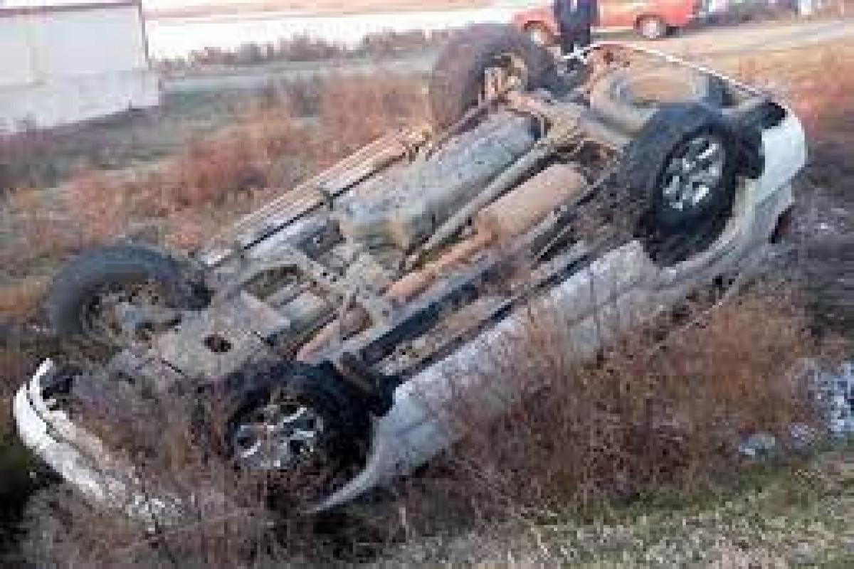 В Физули перевернулся автомобиль, водитель погиб