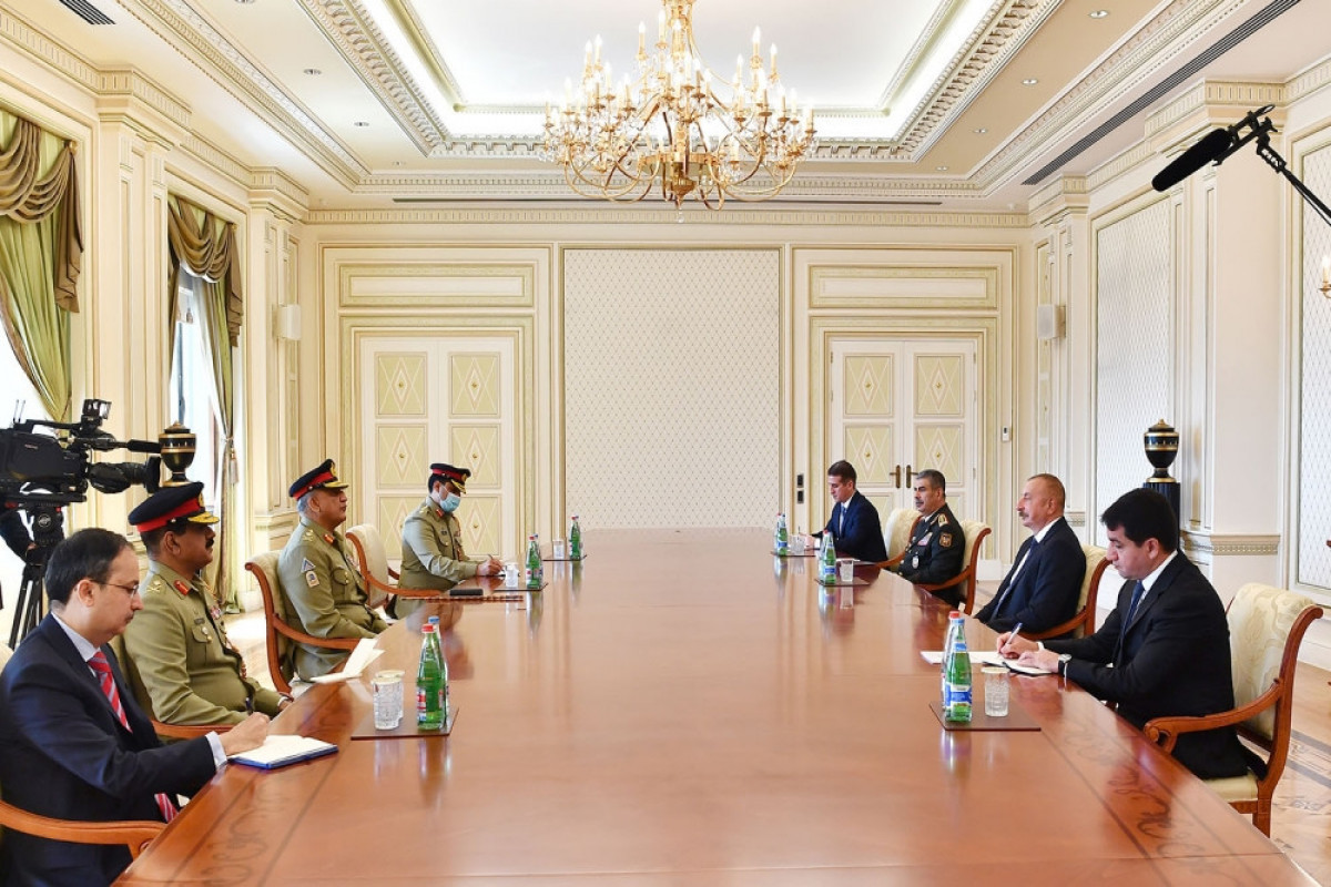 """Azerbaijani President Ilham Aliyev received Chief of Army Staff of Pakistan Army-<span class=""""red_color"""">UPDATED"""