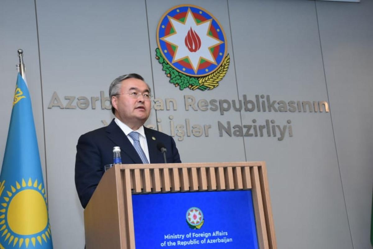 Глава МИД Казахстана: Надеемся, что будут реализованы трехсторонние соглашения, подписанные между Азербайджаном, РФ и Арменией