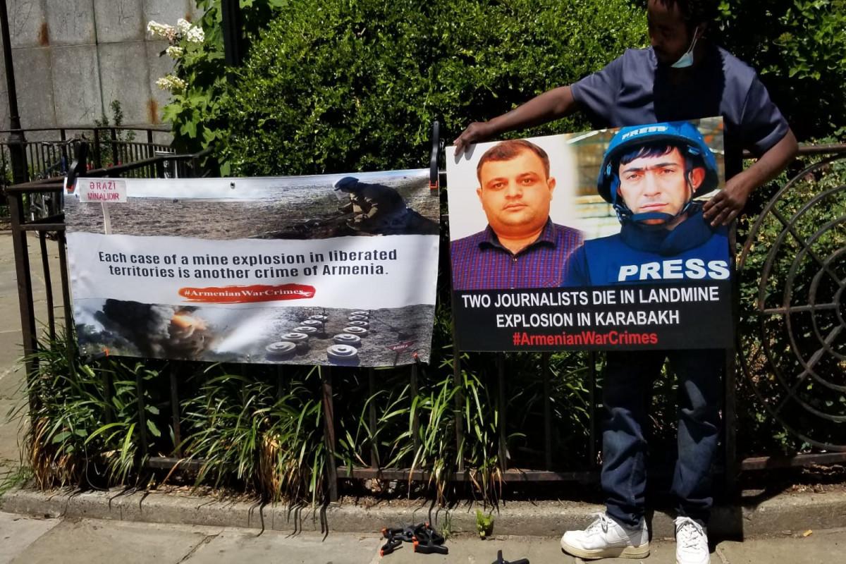 Azerbaijani journalists commemorated in front of UN Headquarters