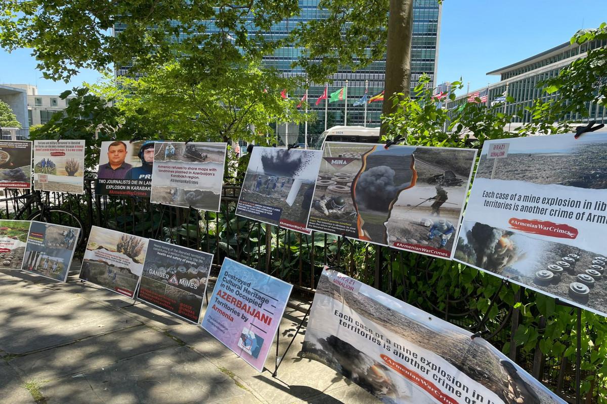 Перед зданием ООН была почтена память азербайджанских журналистов