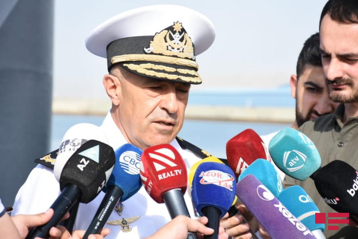 Командующий ВМС: Продолжаются работы по созданию сооружений для эксплуатации месторождения «Достлуг»