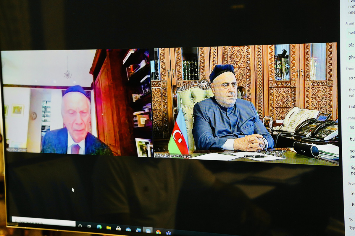 """QMİ sədri """"Vicdana çağırış"""" Fondunun prezidenti ilə videoformatda görüşüb"""