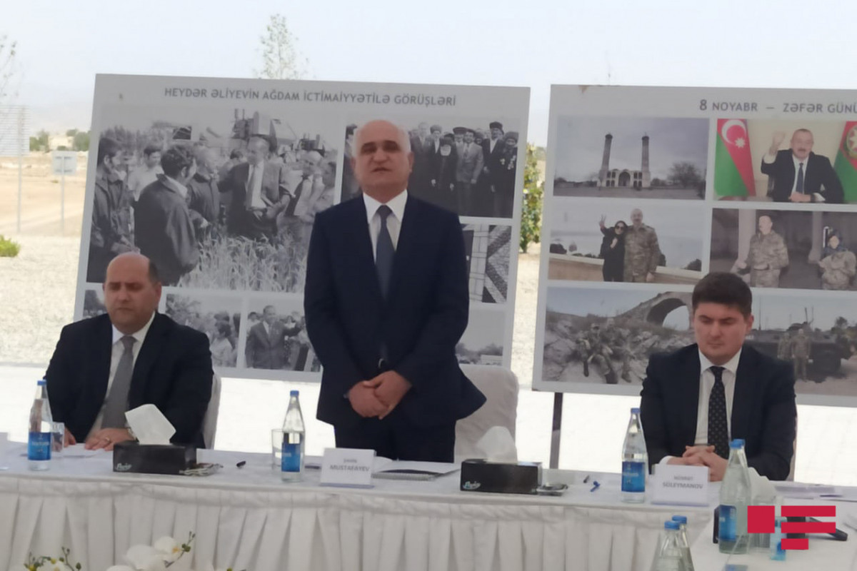 Meeting of commission to assess water resources in liberated part of Aghdam from occupation being held
