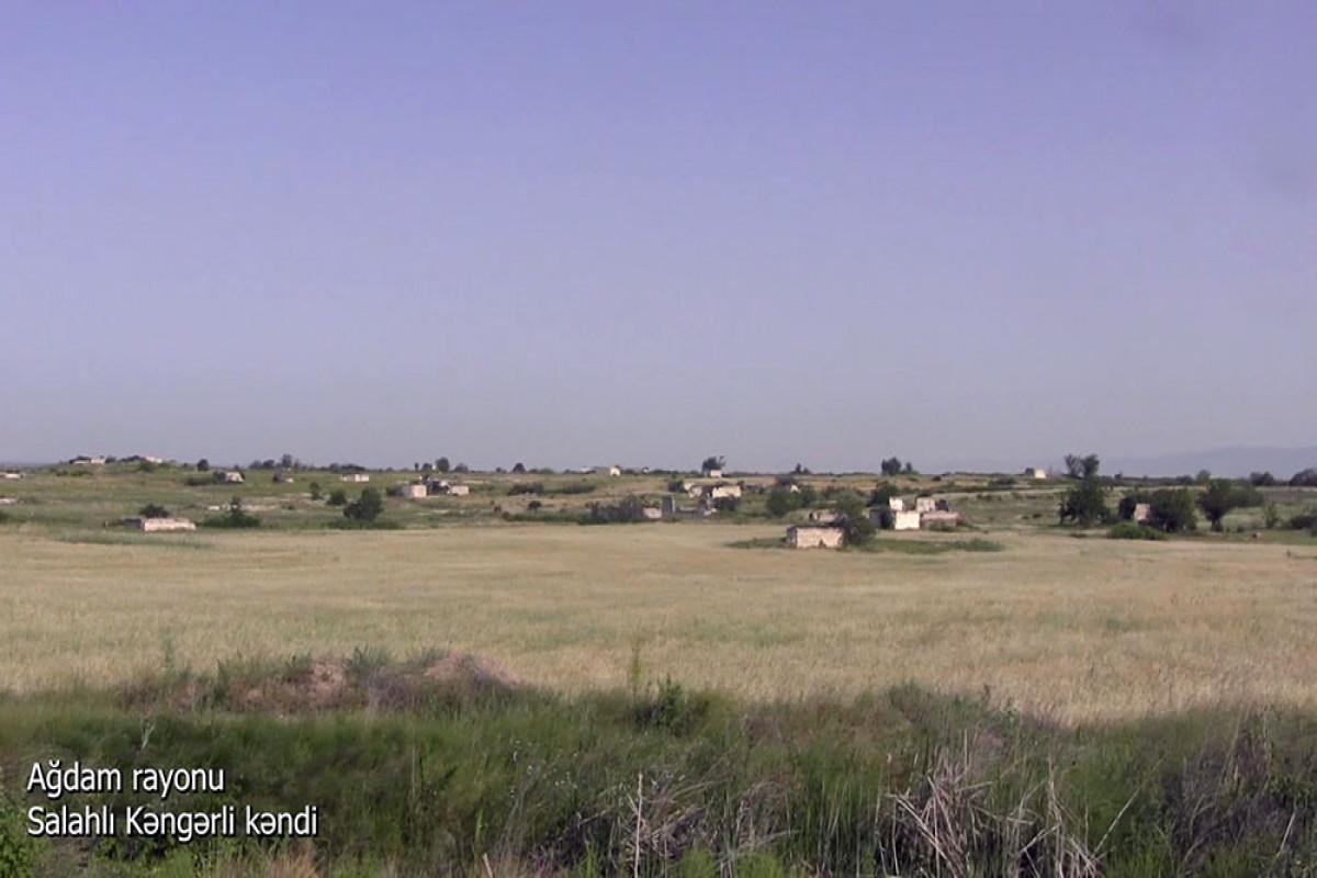 Azerbaijani MoD released video footage of the Salahli Kangarli village of the Aghdam region