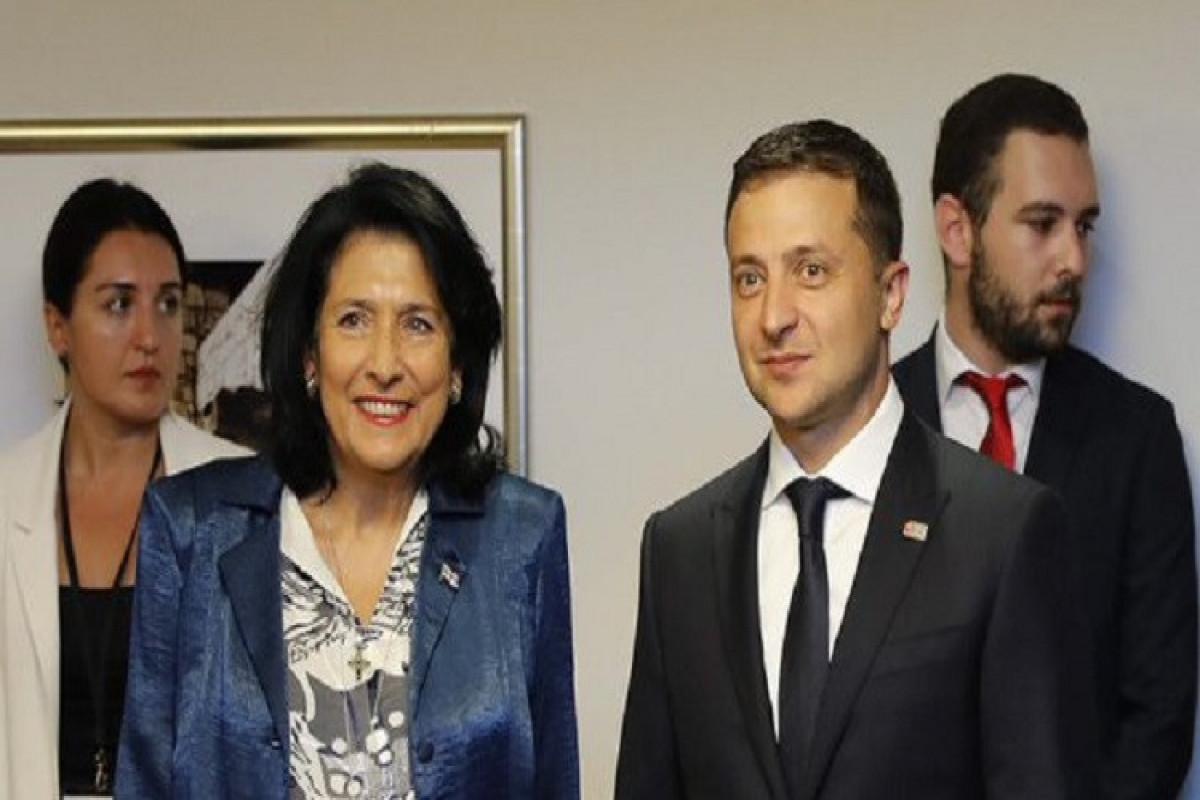 Gürcüstan və Ukrayna prezidentləri görüşüb