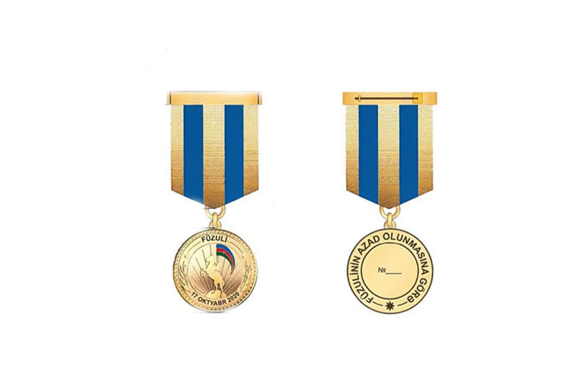 """11 min 365 hərbi qulluqçu """"Füzulinin azad olunmasına görə"""" medalı ilə təltif olunub"""