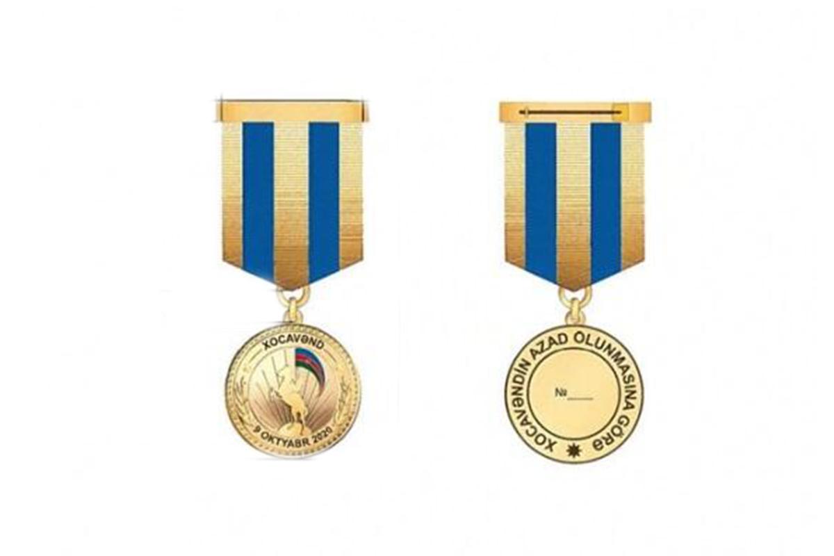 """Silahlı Qüvvələrin hərbi qulluqçuları """"Xocavəndin azad olunmasına görə"""" medalı ilə təltif edilib"""