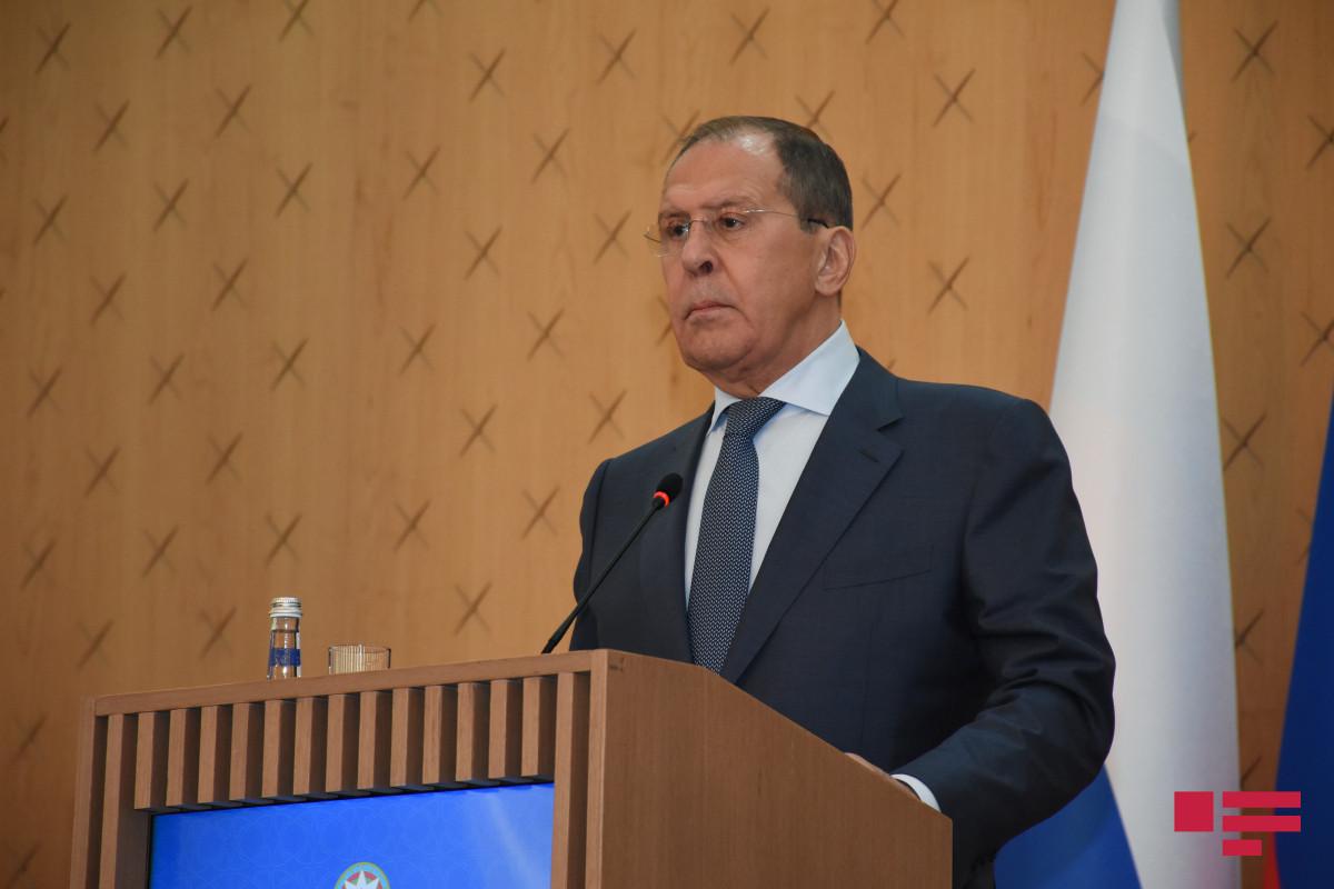"""Lavrov: """"Həmsədrlərlə birgə tərəflər arasında inamın möhkəmləndirilməsinə kömək edirik"""""""