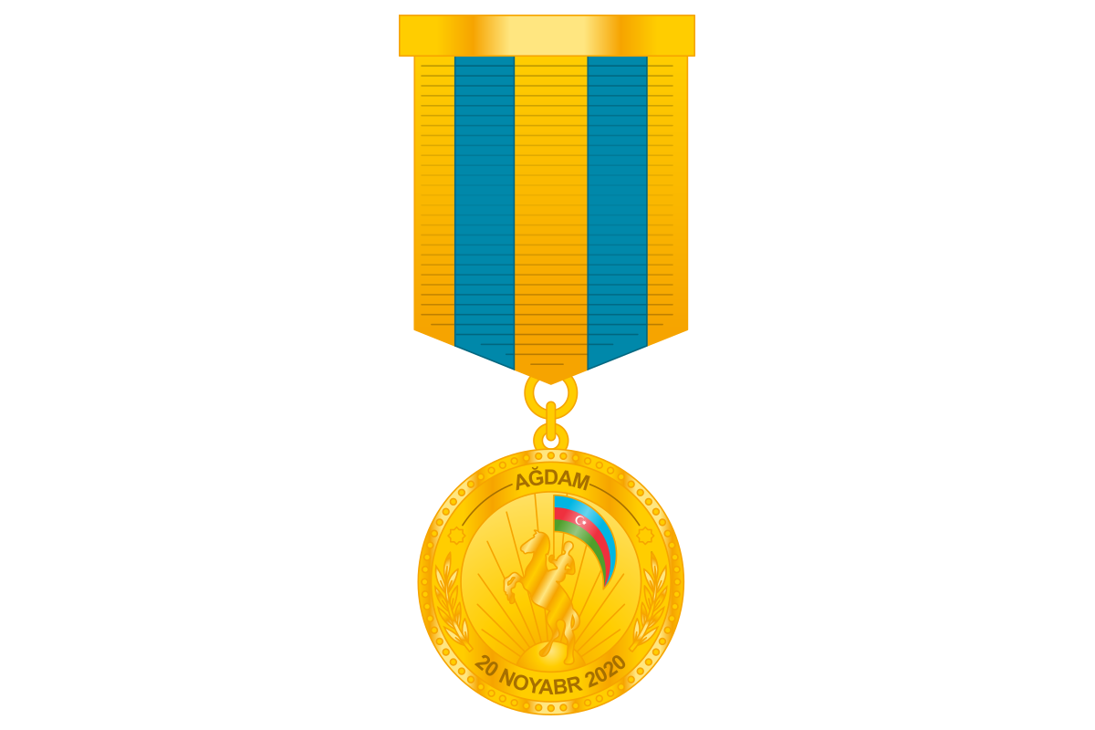 """A group of servicemen awarded the medal """"For the release of Aghdam"""""""