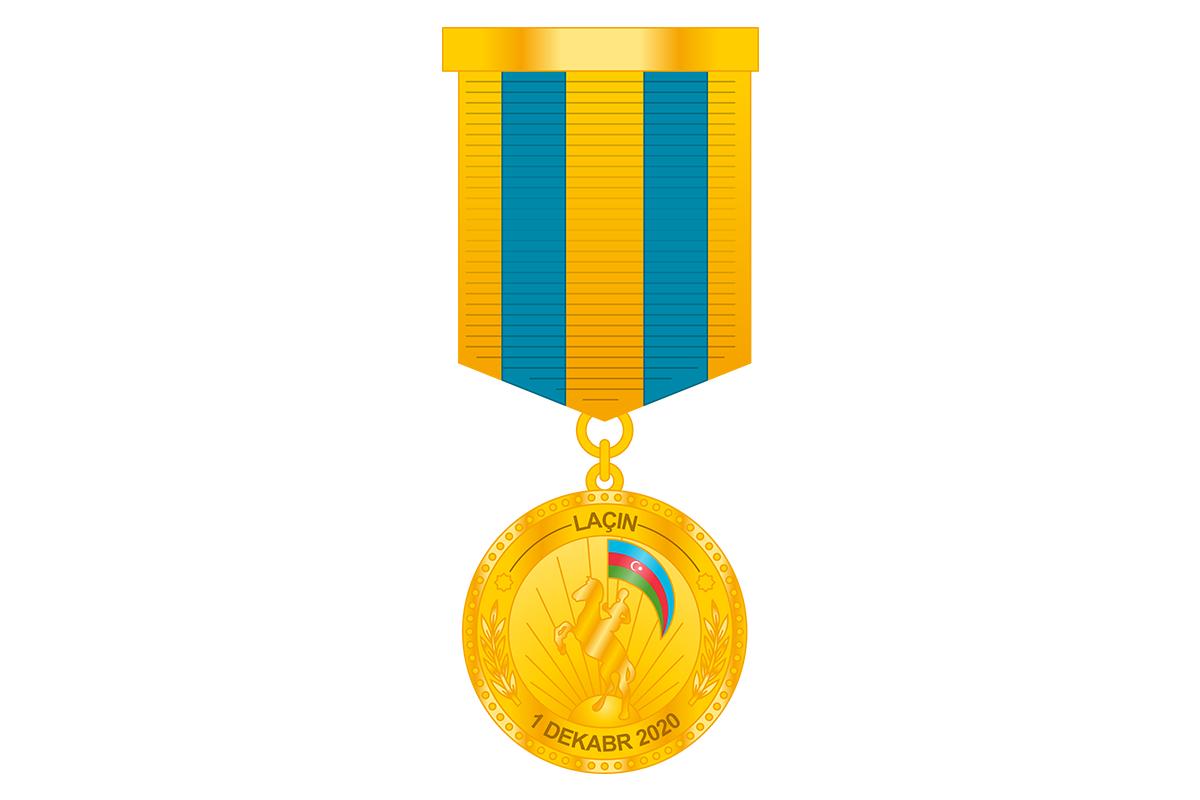 Военнослужащие ВС Азербайджана награждены медалью «За освобождение Лачина»