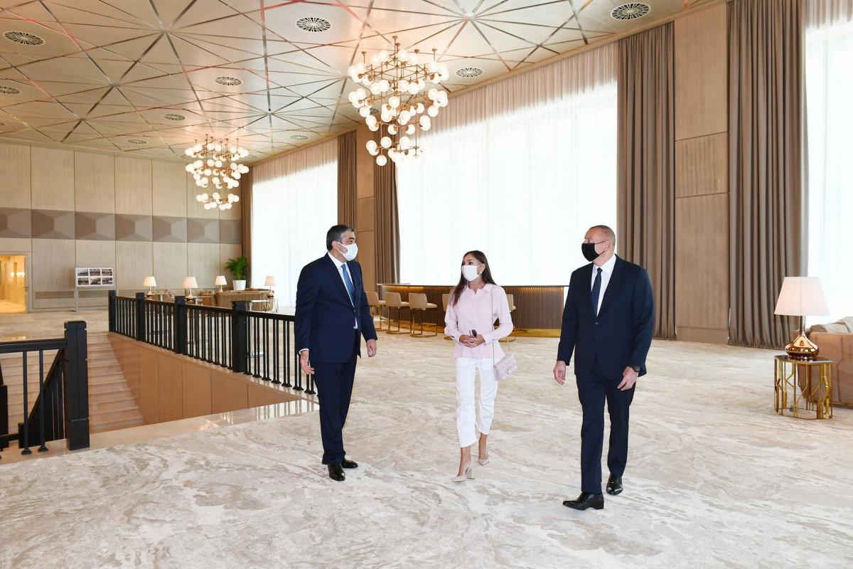 """Президент Ильхам Алиев ознакомился с условиями, созданными после реконструкции во дворце «Гюлистан»-<span class=""""red_color"""">ВИДЕО-<span class=""""red_color"""">ОБНОВЛЕНО"""