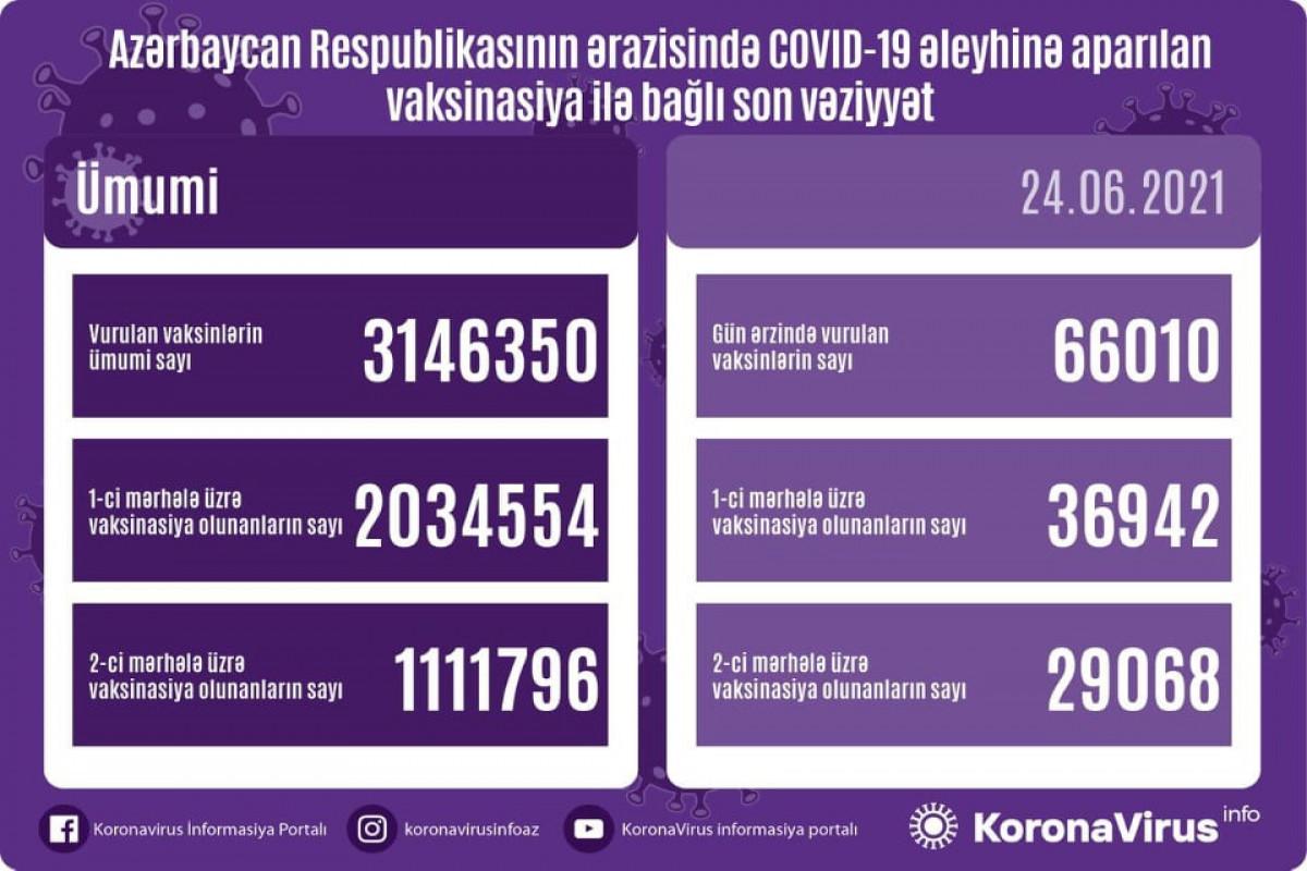 Обнародовано количество вакцинированных от COVID-19 в Азербайджане