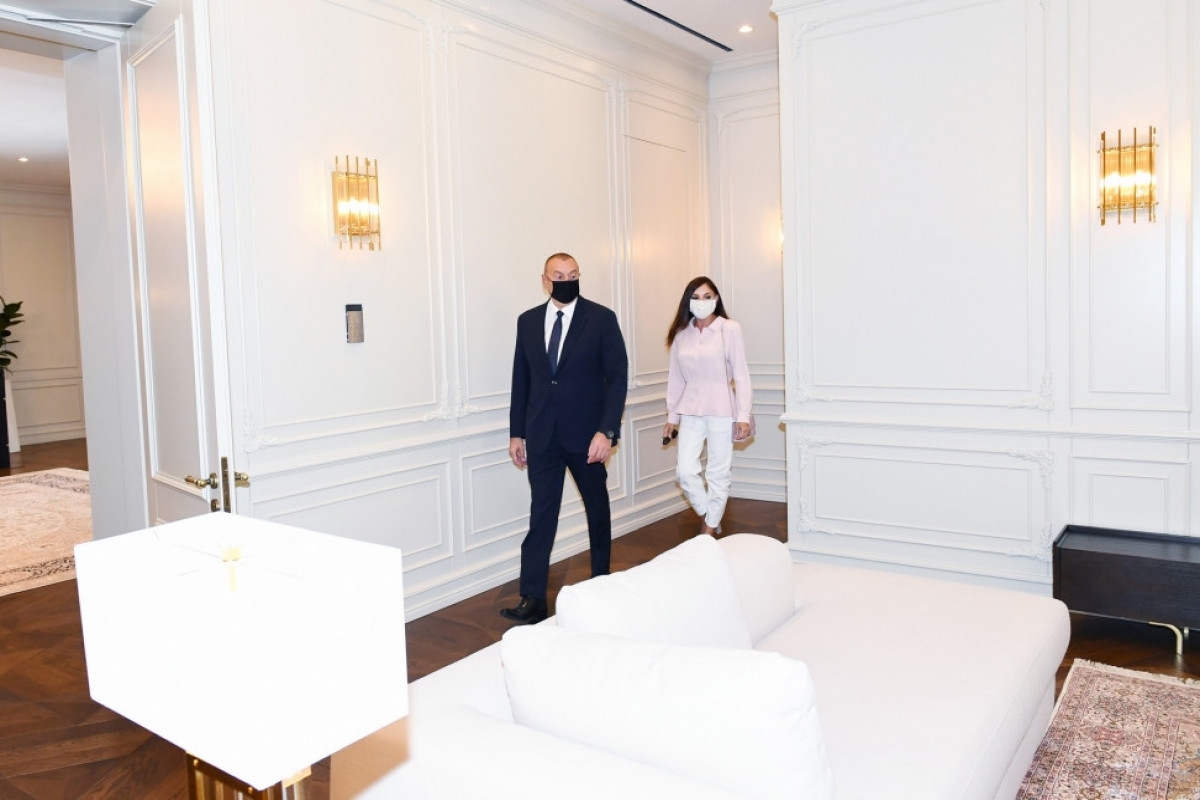President Ilham Aliyev viewed conditions created at Gulustan Palace after renovation