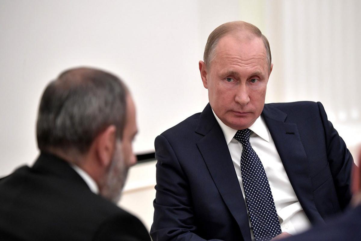 Putin Paşinyanı seçkilərdə qələbə münasibətilə təbrik edib