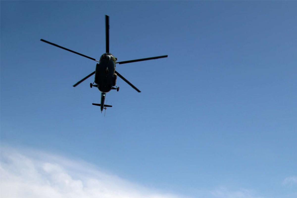 Rusiyada helikopter qəzaya uğrayıb, ölənlər var