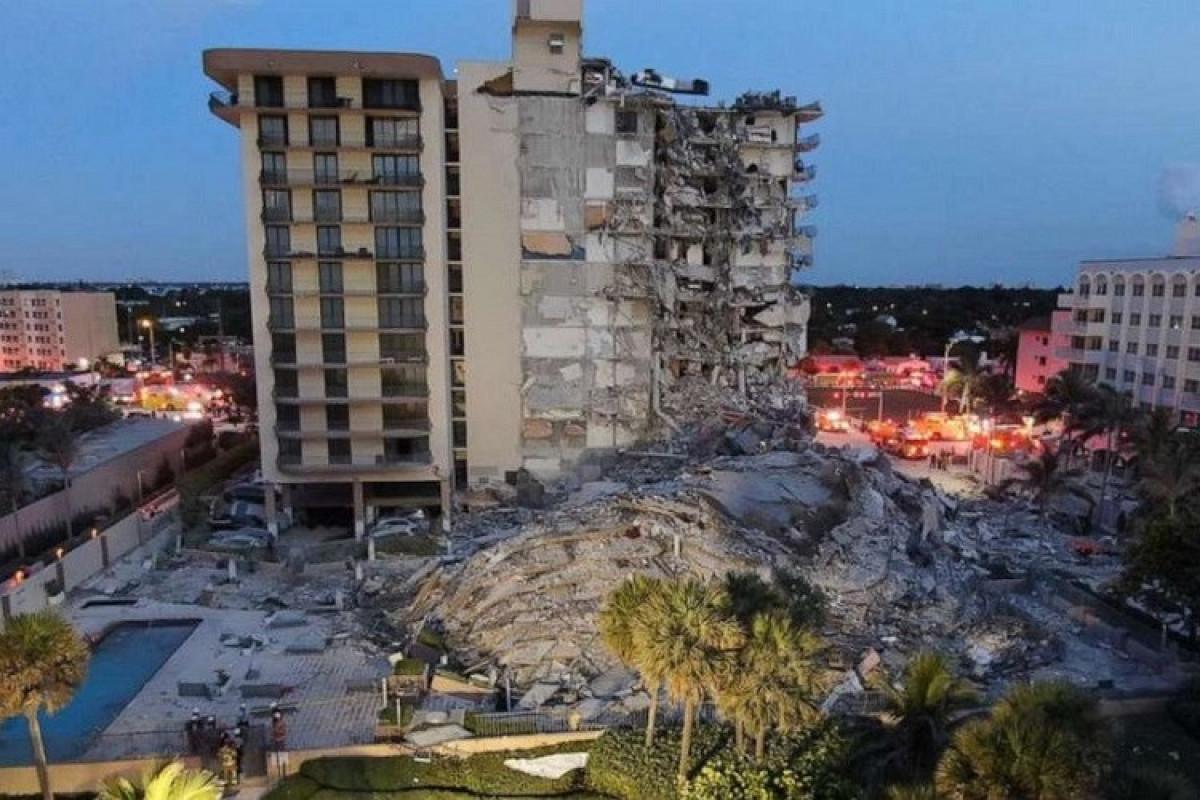 ABŞ-da binanın çökməsi nəticəsində ölənlərin sayı artıb, 99 nəfər itkin düşüb