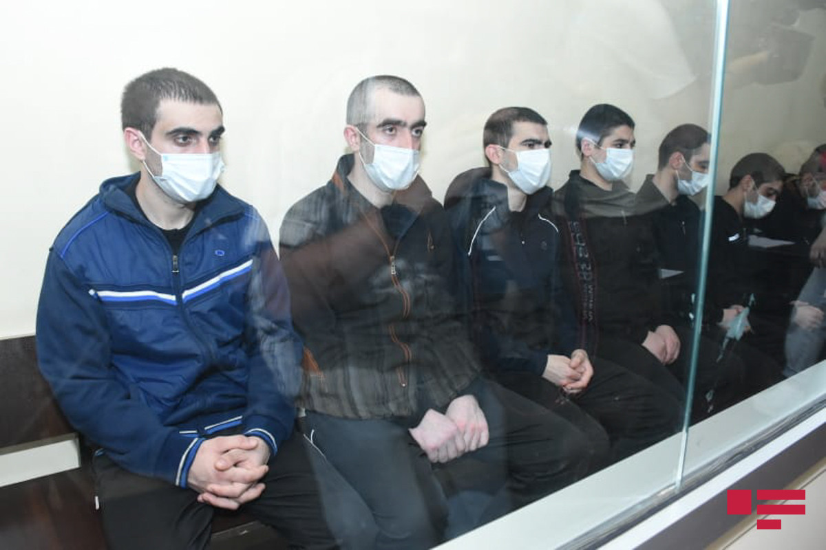 Trial of 14 members of Armenian armed group. committed terrorism-provocation in Azerbaijan, being continued