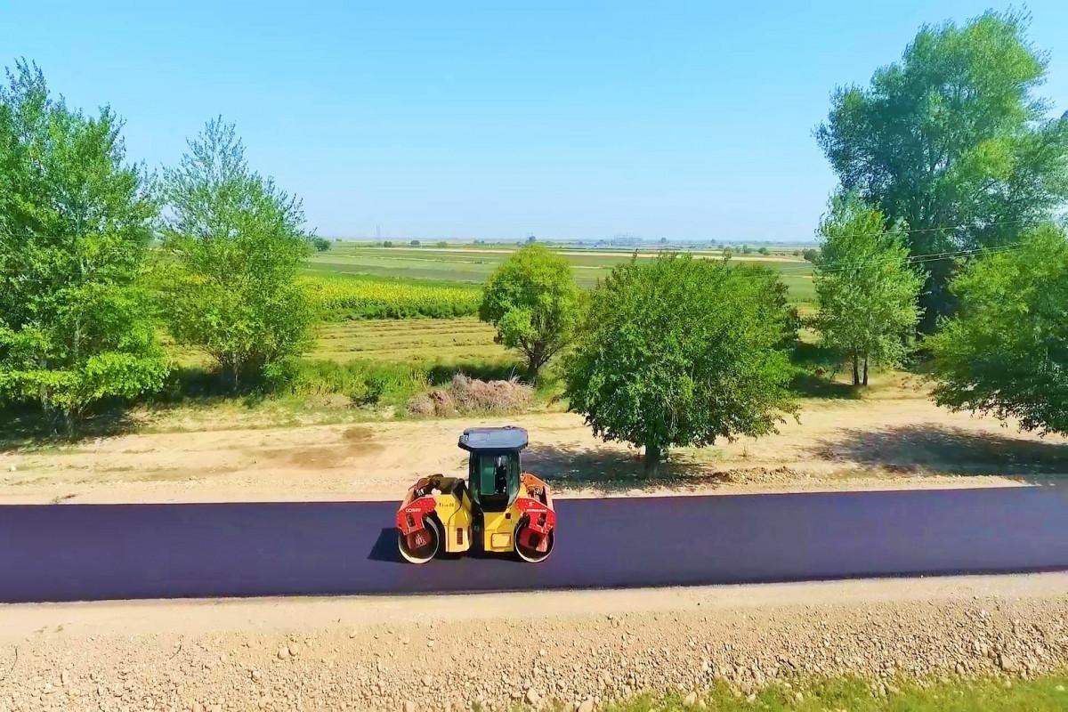 Goranboyda avtomobil yolunun tikintisi davam etdirilir - FOTO