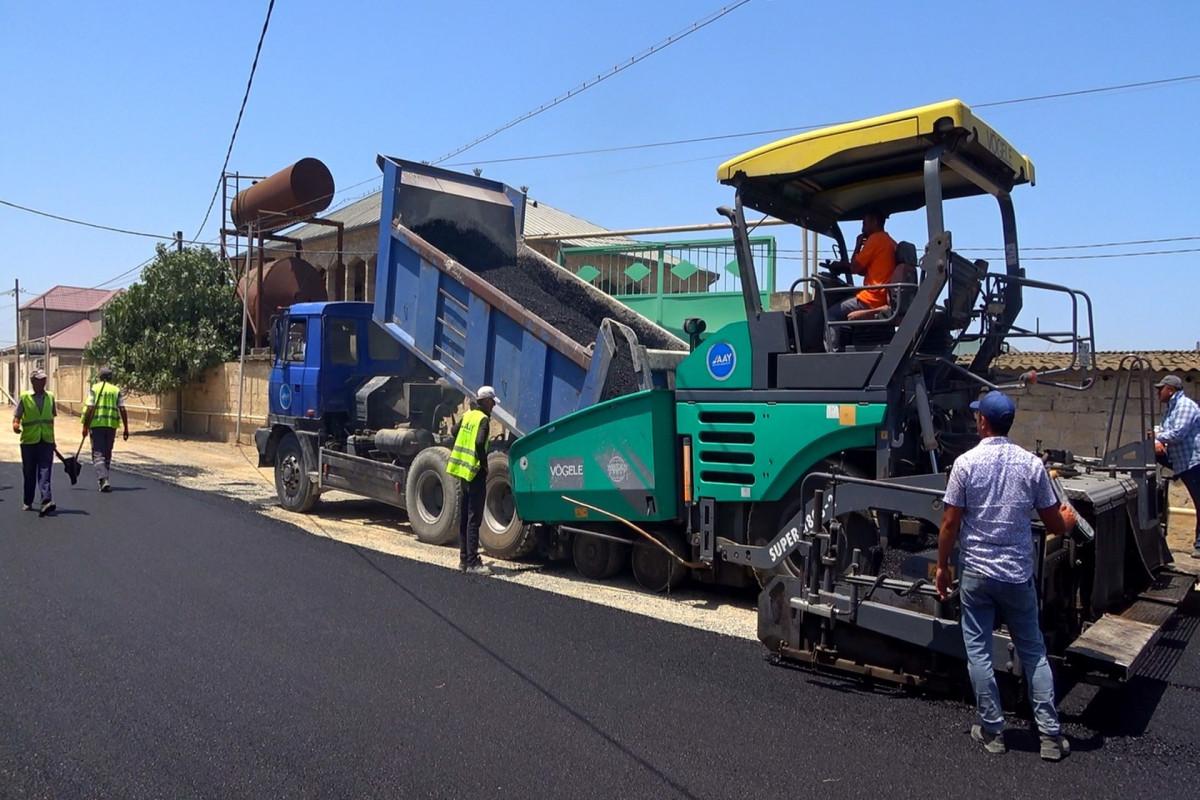 Hövsanda Bağça küçəsi təmir olunur - FOTO