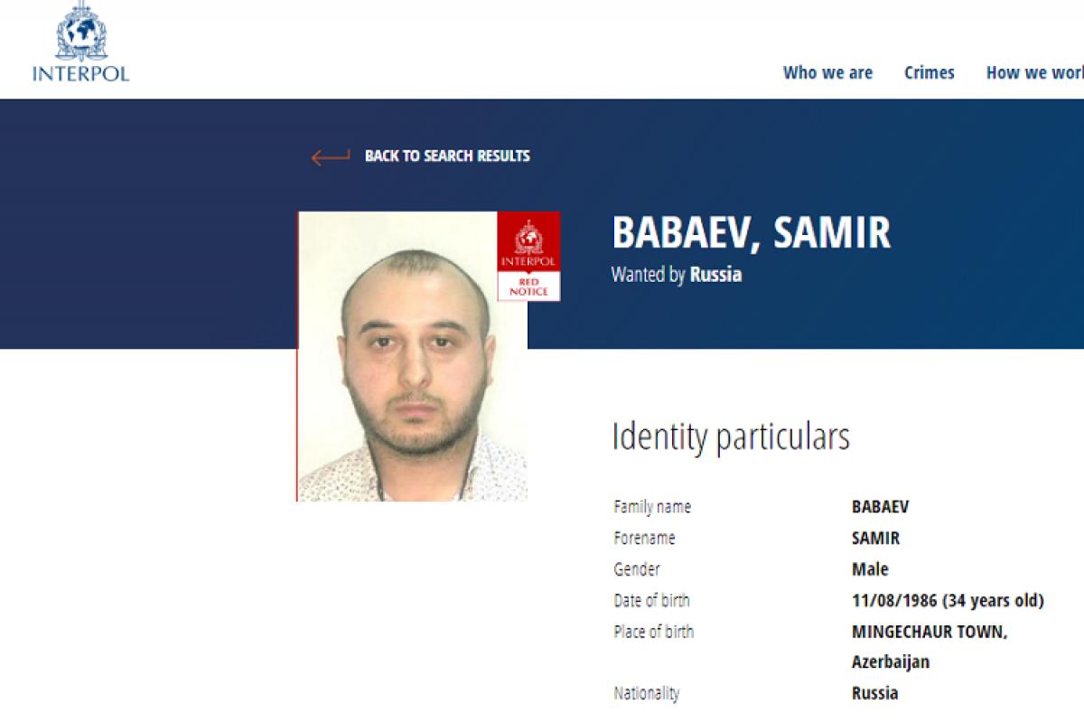 Russia put an Azerbaijani accused of terrorism on international wanted list-PHOTO