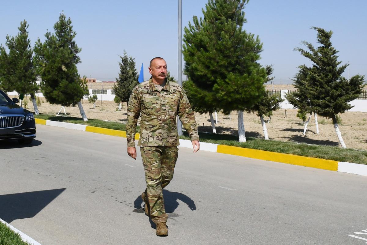 Президент Ильхам Алиев ознакомился с условиями, созданными в новом военном городке ВВС Минобороны-ОБНОВЛЕНО -ФОТО -ВИДЕО