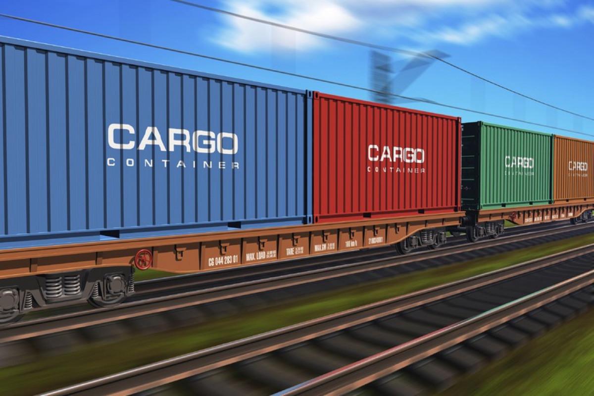 Первый контейнерный поезд по коридору Север-Юг прибыл в Азербайджан