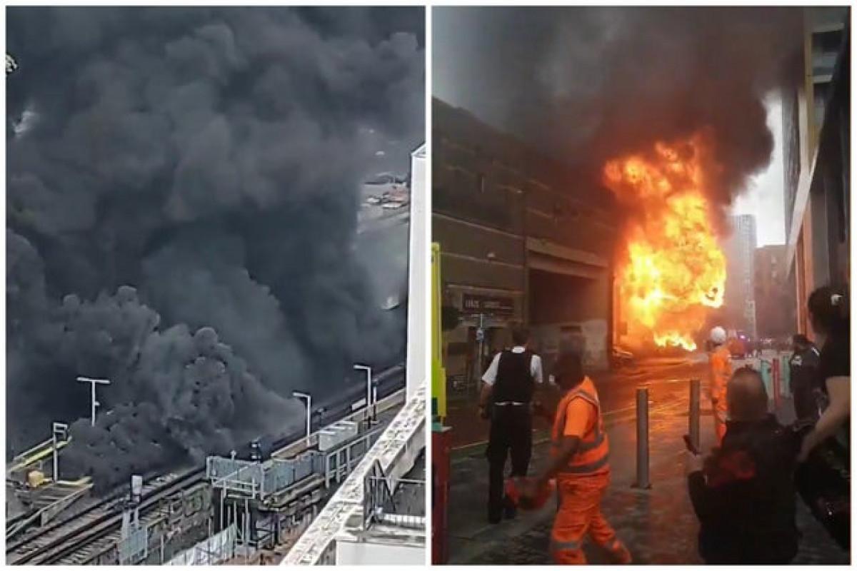 Major blaze breaks out near Elephant and Castle station, London-PHOTO