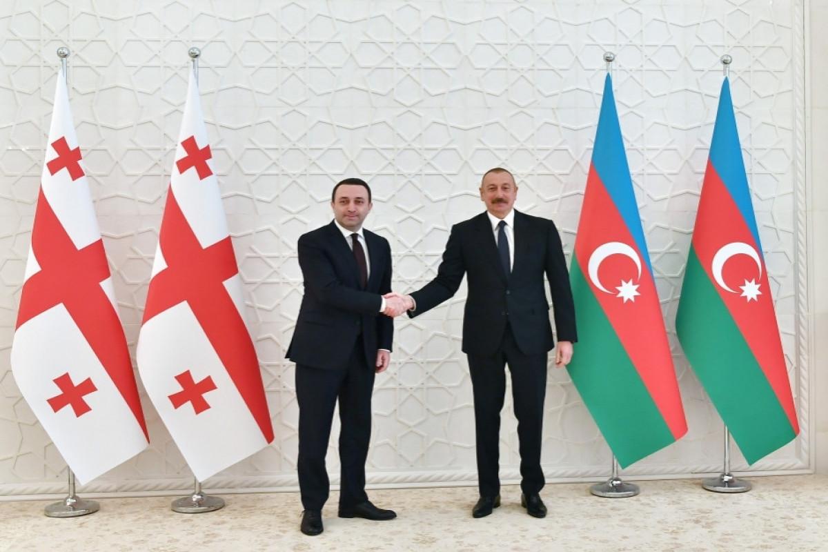 Prezident İlham Əliyev Gürcüstanın Baş naziri İrakli Qaribaşvilini təbrik edib
