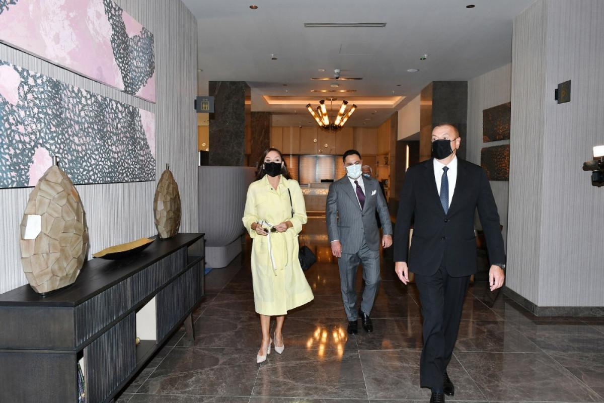 President Ilham Aliyev attended opening of Courtyard by Marriott Baku hotel