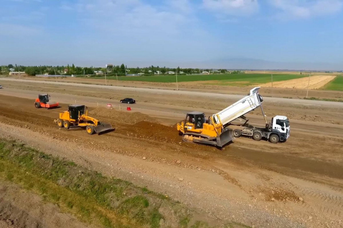 Construction of Barda-Aghdam highway being continued-PHOTO