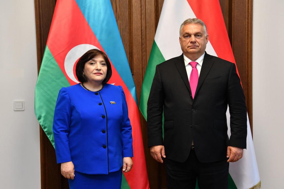 Milli Məclisin Sədri Macarıstanın Baş naziri Viktor Orbanla görüşüb