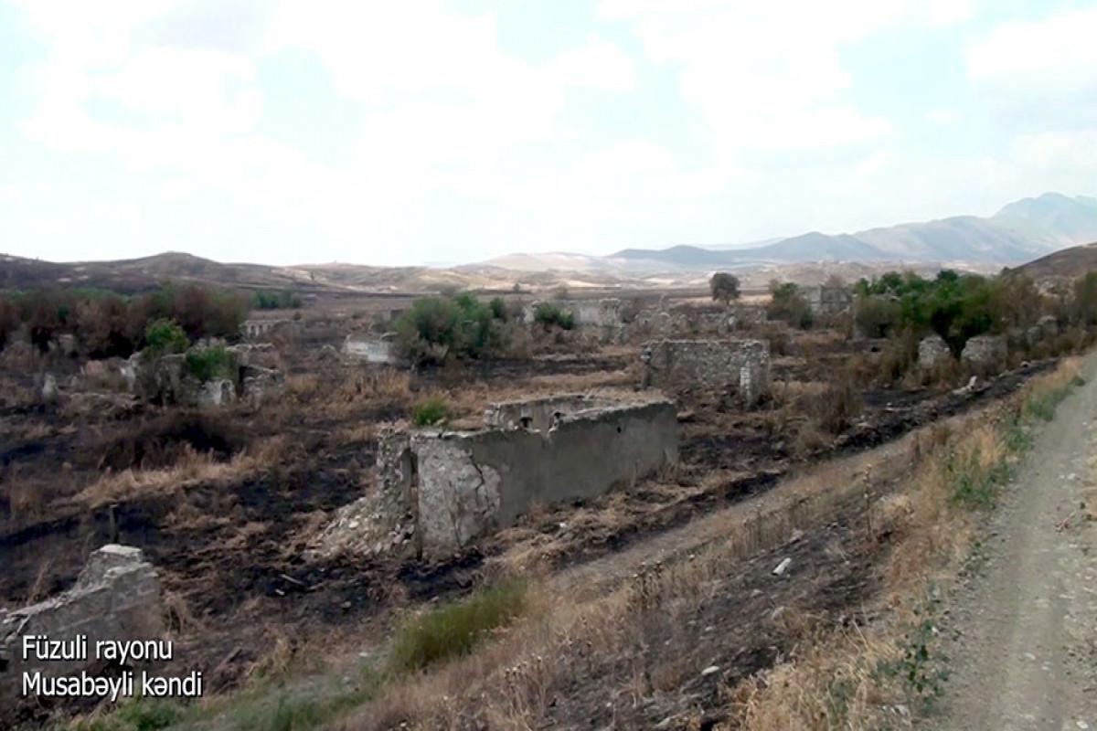 Azerbaijani MoD releases video footage of the Musabayli village of the Fuzuli region-VIDEO