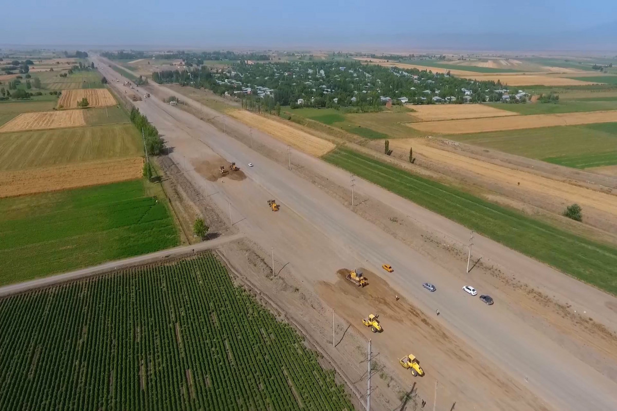 Bərdə-Ağdam avtomobil yolunun tikintisi davam etdirilir - FOTO