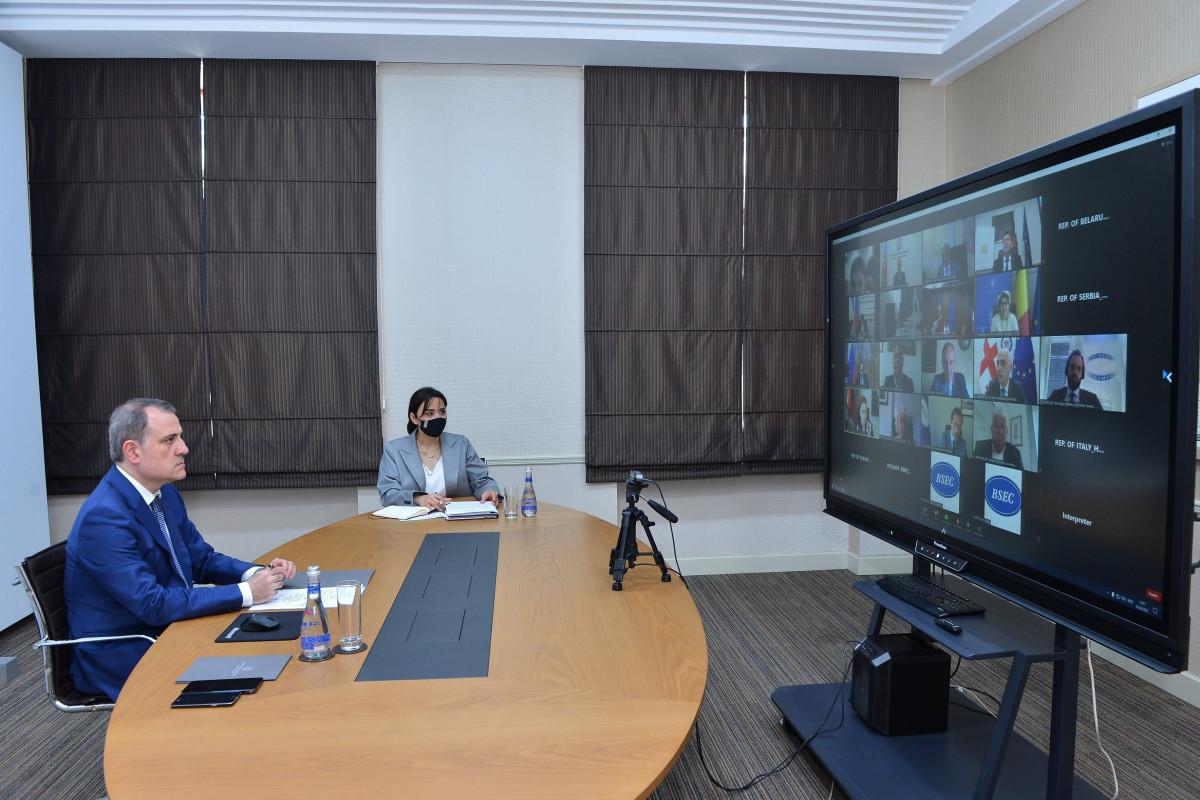 "Azerbaijani FM: ""Zangazur corridor will connect Nakhchivan with Azerbaijan, which has been under siege for 30 years"""