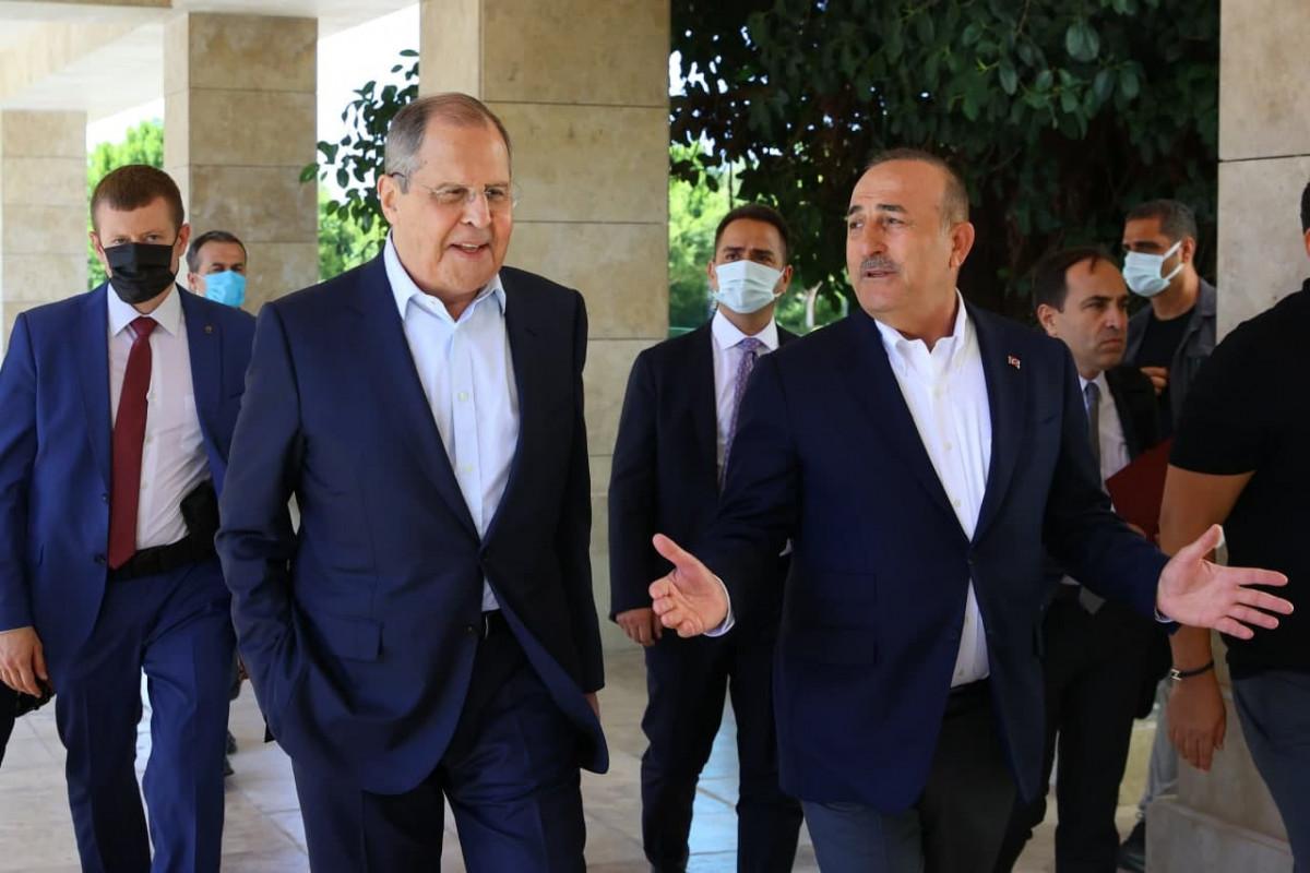 Çavuşoğlu və Lavrov görüşüb - FOTO