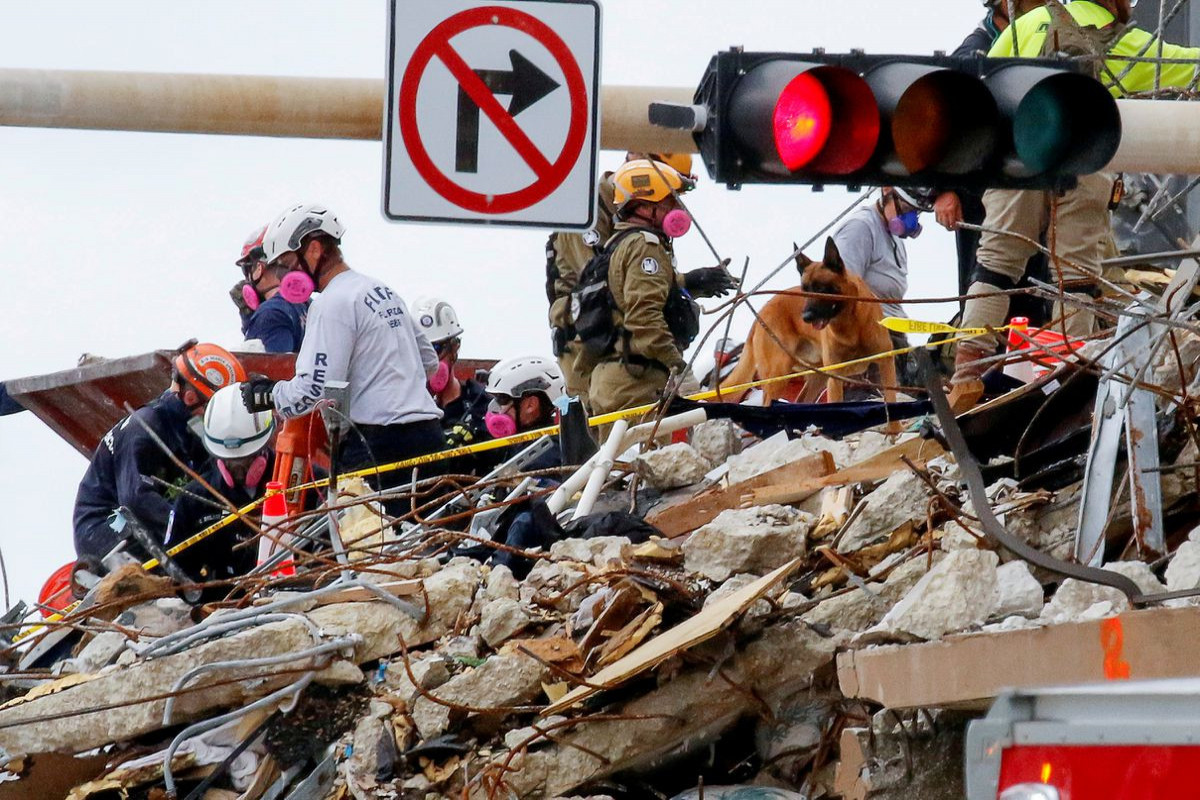 Death toll rises to 16 nearly a week after Florida condo collapse