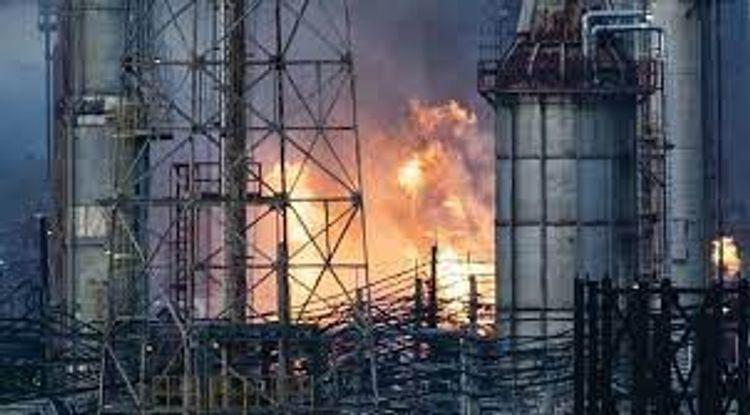 İsraildə neft emalı zavodunda yanğın baş verib