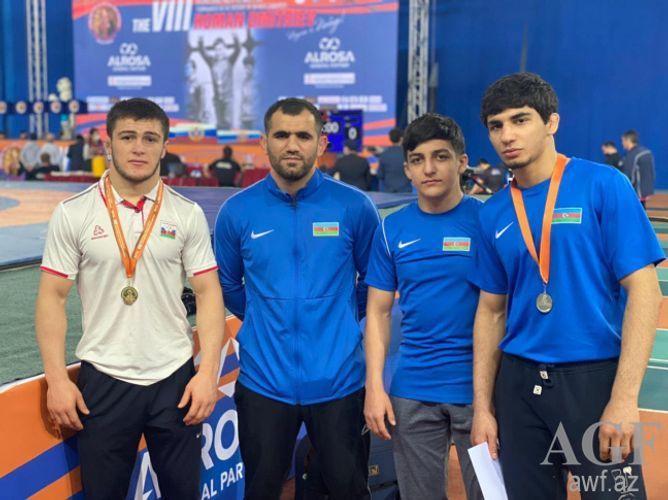 Azerbaijani wrestler defeated Armenian in final of the international tournament in Russia