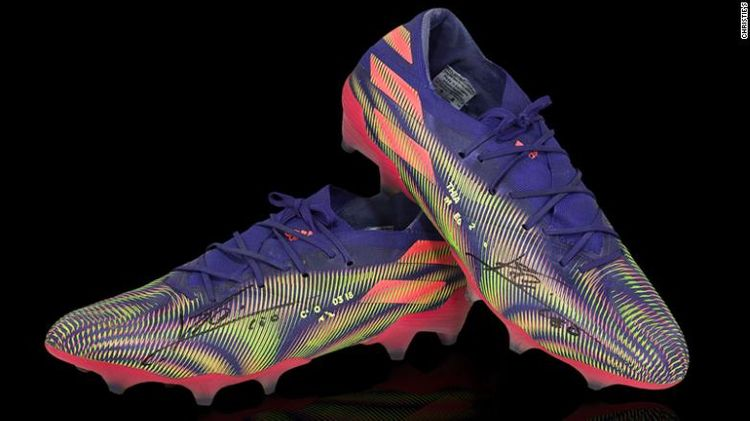 Barcelona star's football boots auctioned for $173,000